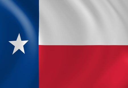 texan: Texan flag waving in the wind