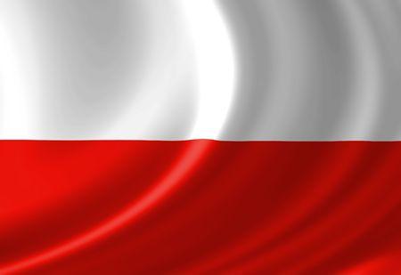 bandera de polonia: Polaco bandera ondeando en el viento