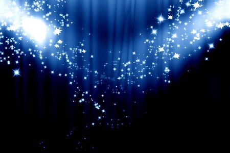 famous actor: Dark blue curtain background with spotlights on it
