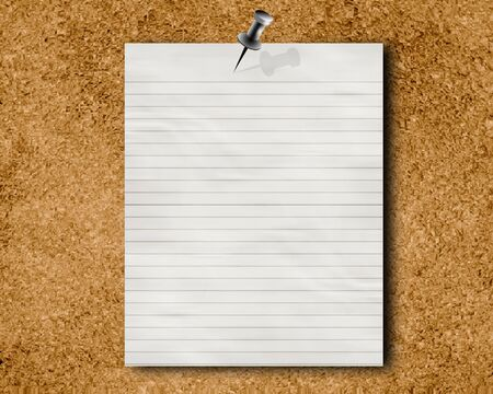 corkboard with a memo or message on it Stock Photo - 3525004