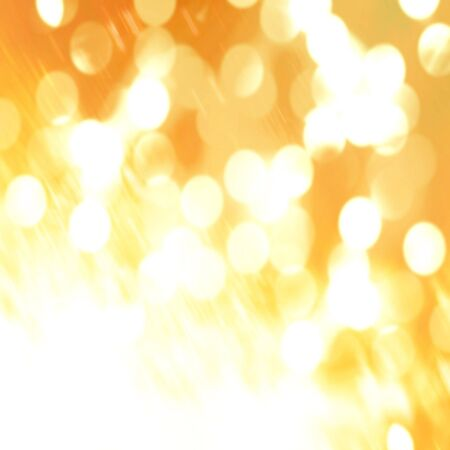best wishes: blurred christmas lights on a golden background