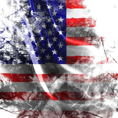 American flag background with some damage on it Stock Photo - 3525095