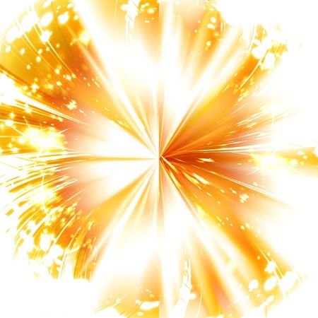 implode: abstract explosion on a bright red background Stock Photo