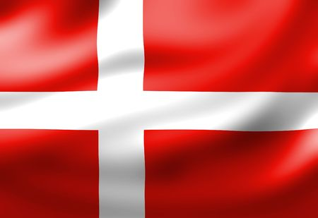 danish: Danish flag waving in the wind