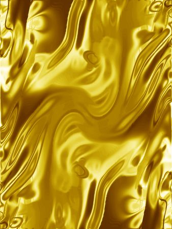 golden wrapping or yellow drapes with smooth lines