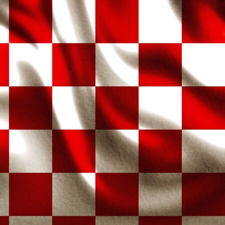 red picnic cloth with some smooth lines in it photo