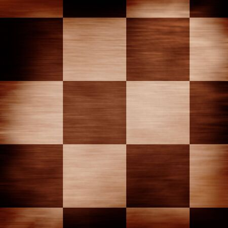 wooden chessboard in different shades of brown photo