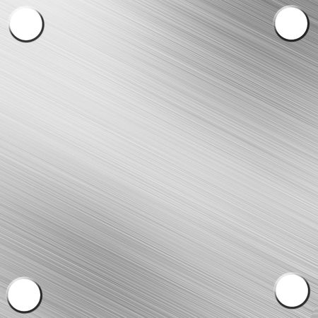 Brushed alluminium metal plate with reflection photo