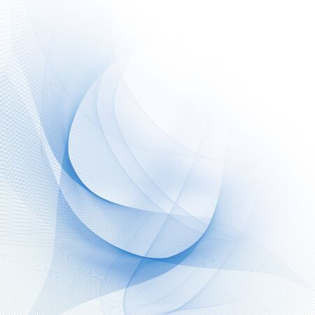Abstract blue lines on a solid white background photo