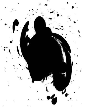 black splatter on a solid white background Stock Photo - 3640051