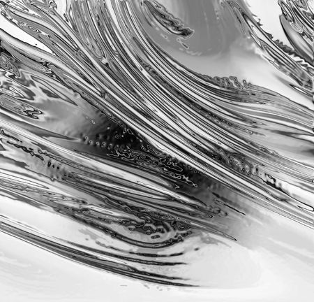 chrome texture: abstract silver background with some smooth lines in it Stock Photo