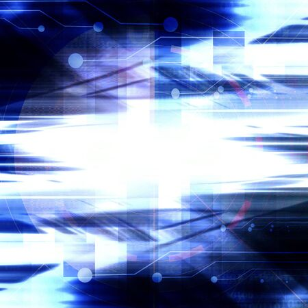 abstract blue background with some technology elements in it Фото со стока