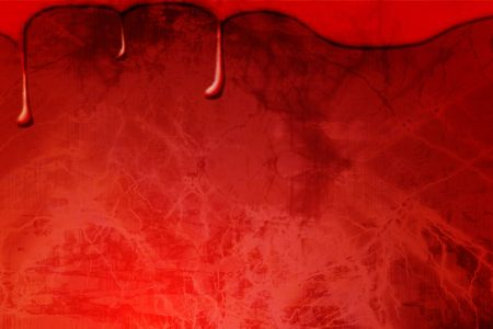 bloodied: Blood drops on a dark red background