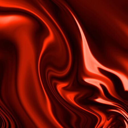 Red drapery with some folds photo
