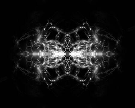 splintered: Cracked glass on a dark black background