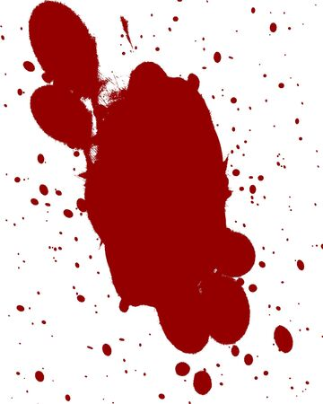 red blood splatter on a white background Stock Photo - 3640039