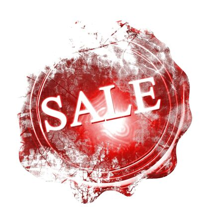 wax sell: wax seal with sale printed on it Stock Photo