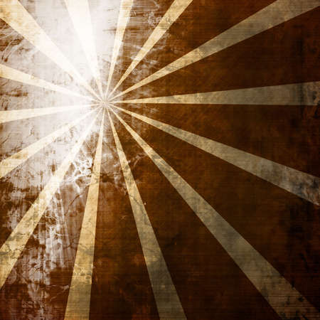abstract rays on a vintage piece of paper photo