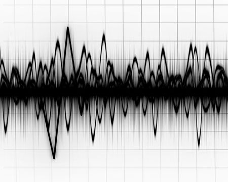 earth quake lines on a white background Stock Photo - 3640185