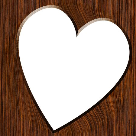 soul mate: Wood texture with straight lines and heart Stock Photo