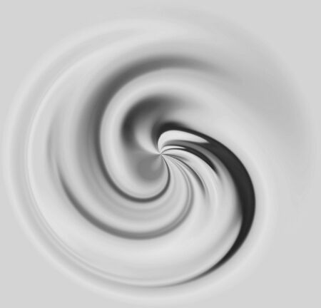 milk or cream in an elegent swirl