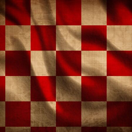 red picnic cloth with some folds in it Stock Photo - 3640471