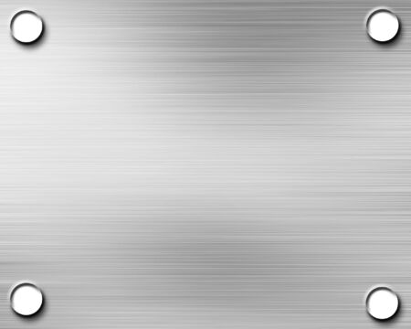 Brushed aluminium metal plate with reflection on it Stock Photo