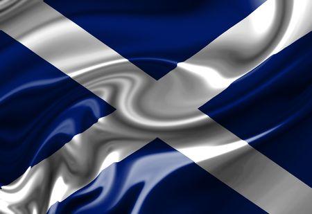 scottish: Scottish flag waving in the wind