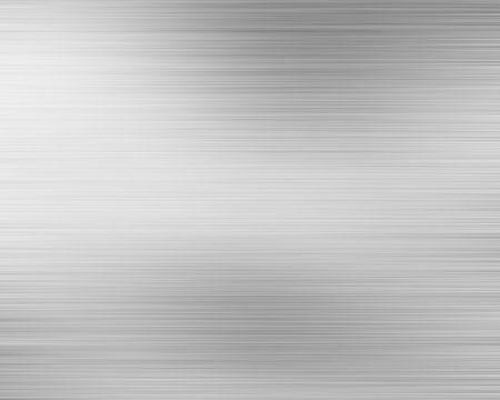 inox: Brushed alluminium metal plate with reflection Stock Photo