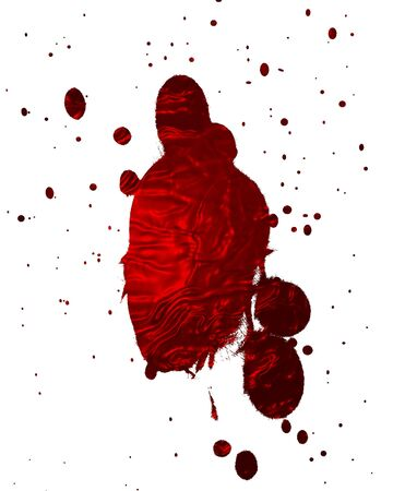 red blood splatter on a white background Stock Photo - 3640062