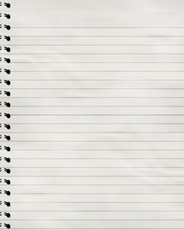 striped notebook with solid white pages in it