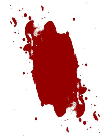 bloodied: red blood splatter on a white background