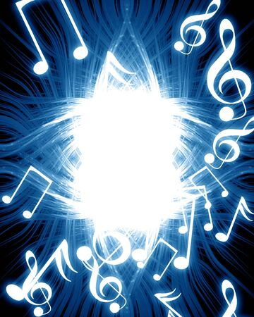 music notes on a dark blue background Stock Photo - 3684160