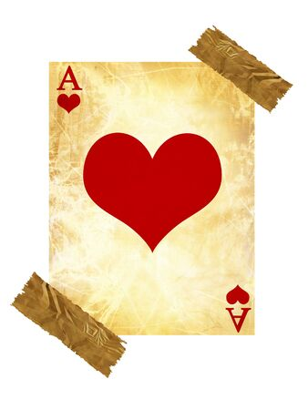 old playing card on a white background