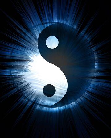 ying yang: yin yang symbol on a dark background