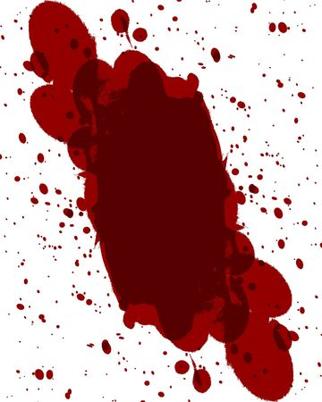 red blood splatter on a white background Stock Photo - 3689071