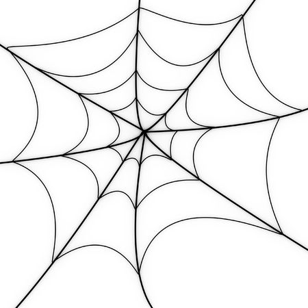 cob: Glowing spider web on a white background