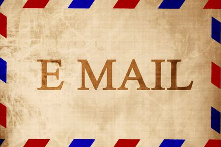 post scripts: Vintage air mail envelope with some shades