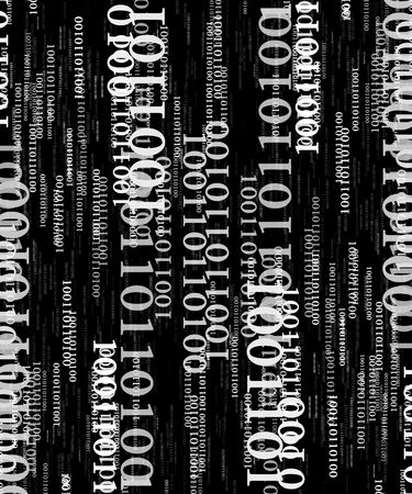 bits and bytes on a black background Stock Photo - 3689165