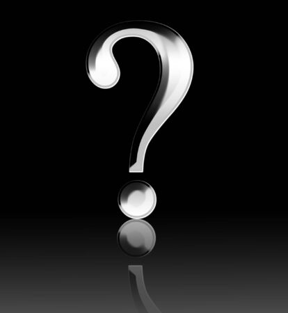 3d Question mark on a dark black background Stock Photo - 3718641