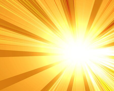abstract rays on a soft yellow background Stock Photo - 3718822