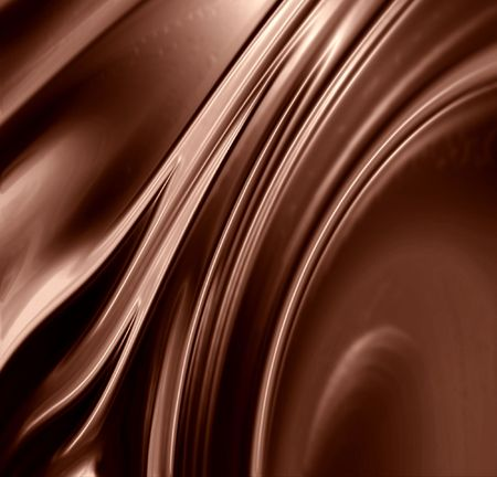 dripping chocolate: Chocolate swirl with some smooth lines in it