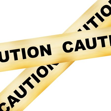 police line white caution on it on a white background Stock Photo - 3718737