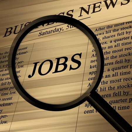 jobs in the news paper on a soft background Stock Photo - 3718893