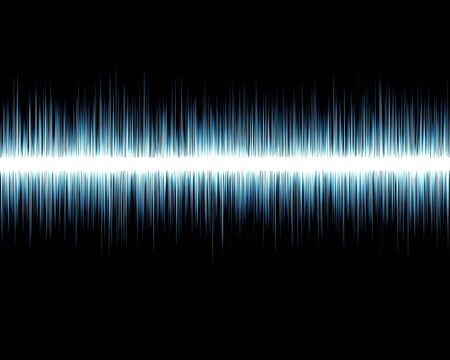 soundwave: Visual representation of an audio wave on a black background