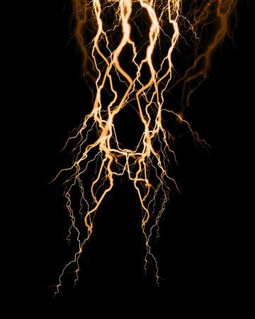 las raíces de las plantas subterráneas en un fondo negro Foto de archivo - 3718865