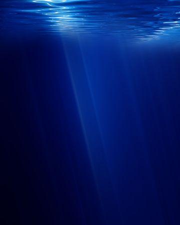 undersea: sous la sc�ne sur un fond bleu fonc�