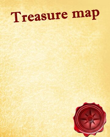 treasure hunt: treasure map with a vintage touch upon it
