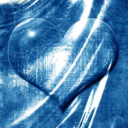 coraz�n en forma de gota de agua sobre un fondo azul Foto de archivo - 3753805
