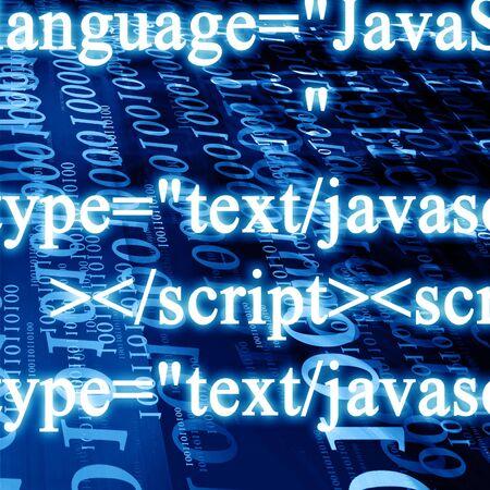 javascript: bits y bytes sobre un fondo azul